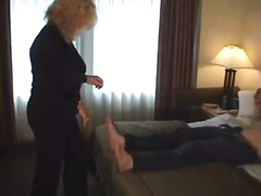 Mature MILF Ties Up An...