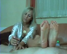 foot fetish, mature, handjob,