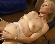 French shaved blonde g...