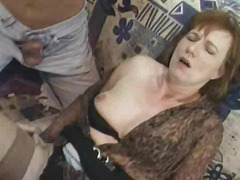 mature, granny, gangbang, group,