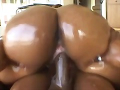 ebony, doggystyle, close up, hardcore, curvy, oil, big ass, riding, shiny