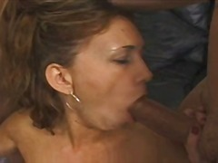 small tits, big cock, threesome