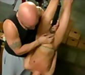 Tube8 - Bound suspended upside down babe throat fucked