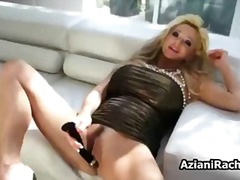 Blonde cougar mom with...