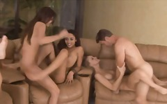 Nuvid Movie:Four slutty girls and two well...