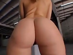 Alexis Texas teases her big ass in a warehouse
