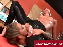 Insatiable blonde is eating a pussy