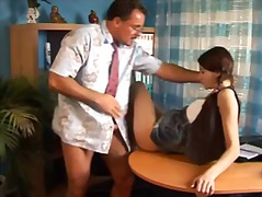 Teen student in pigtai... video