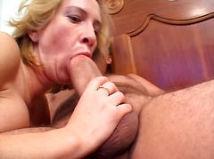 See: Blonde slut gets her p...