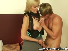 mature, older, masturbation, blowjob, big tits, granny, smoking, nylon