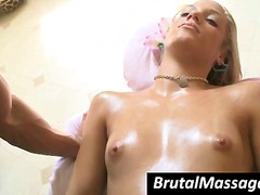 tits, blonde, oiled, sexy, massage