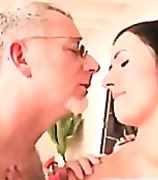 H2 Porn - Grandpa massaging a sweet young ass