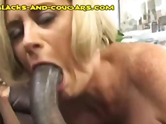 black interracial, blonde, blowjob