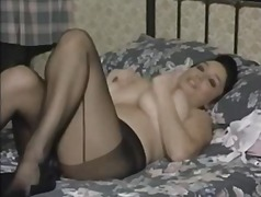 British MILF In Pantyhose