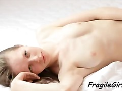 young, naked, skinny, shaved pussy,