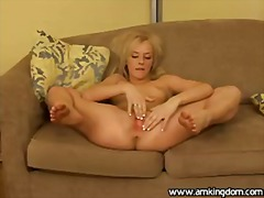 solo, fingering, blonde, young