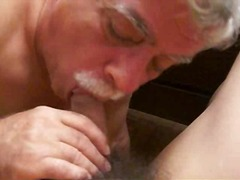 blow, sucking, cock, mature