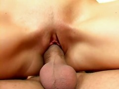 Alluring brunette slut opens wide for...