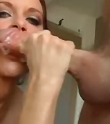 swallow, milf, blowjob, facial,