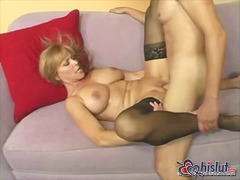 stockings, boo dilicious, cumshot