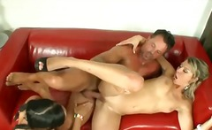 Alpha Porno Movie:Threesome sex with young women...