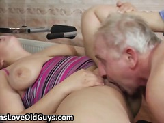 Horny grandpa loves having sex with c...