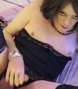 a Shemale Tube - Homemade mature horny cd solo