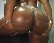 Thick And Sexy Ebony Teasing In The S...