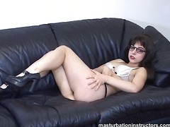 glasses, bikini, fetish, masturbation