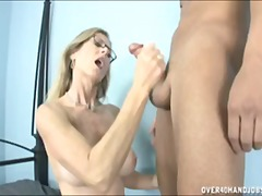 mom, nerdy, orgasm, mature, cumshot