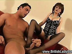 fetish, matures, femdom, shoes, mature, interracial, footjob, british
