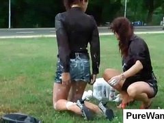 Two hottie chicks get ... preview