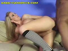 creampie, interracial, blonde, big tits, hardcore, black, cumshot,