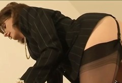DrTuber - Mature stockings briti...