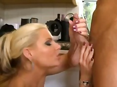 Blonde cougar in the k... video