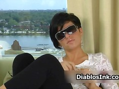 Cute girl with sunglas... video
