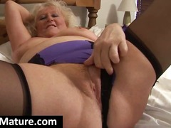 Chubby blonde granny s... video