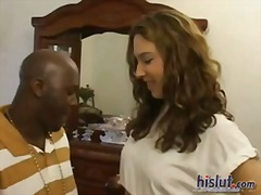 facial, blonde, bubble, interracial, ivy
