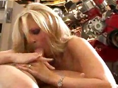Mechanic fucks pornstar Julia Ann and cums