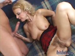 mature, anal, hairy, blonde,