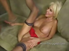 Mature blonde and two ...