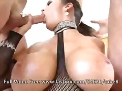 Carmella Bing gaggin on two cocks