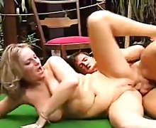 Outdoor anal sex and cumshot on tits