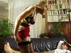 stockings, mature, anal, blonde,