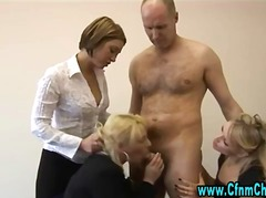 Office sluts blow cfnm... video
