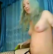 Sexy blonde babe fingering her wet pussy