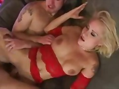 Crazy blonde girl does... video