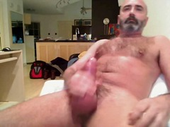 Mature Stud Toying & Wanking Till Cum...