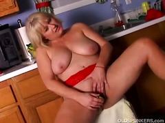solo, blonde, pussy, mature,