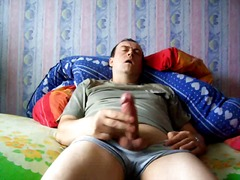 Mature gay solo jerkin...